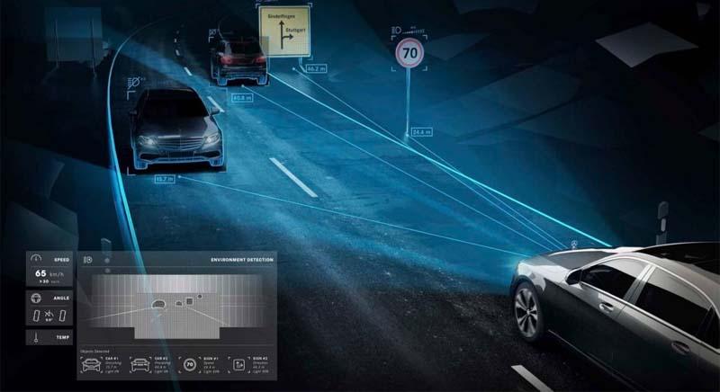 Inteligentne oświetlenie drogi z funkcją ostrzegania